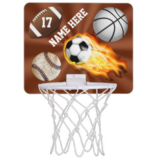 Regalos personalizados de los deportes para el canasta mini
