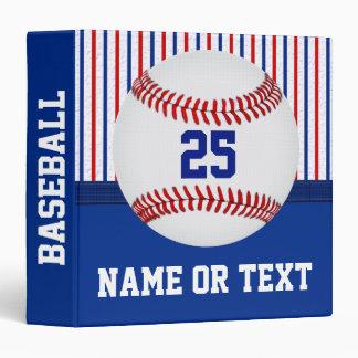 """Regalos personalizados del béisbol para los carpeta 1 1/2"""""""