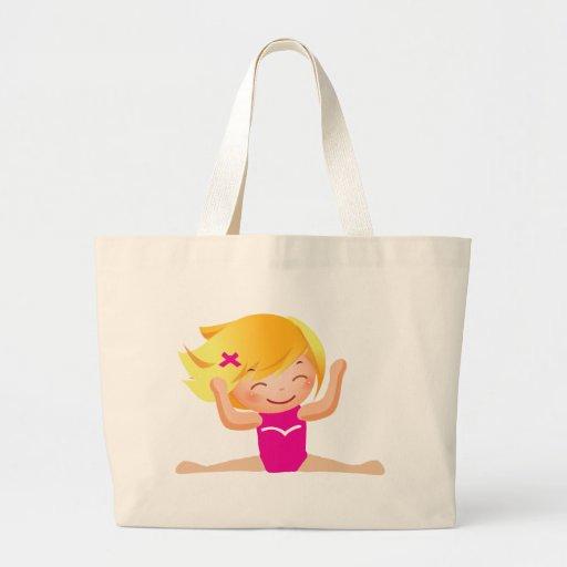 Regalos personalizados del chica de la gimnasia bolsas