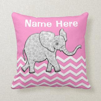 Regalos personalizados del elefante para la cojín decorativo