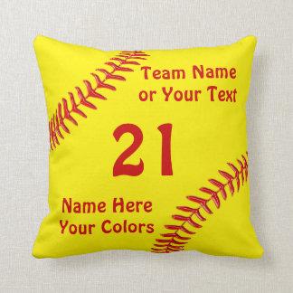 Regalos personalizados del equipo del softball, cojín