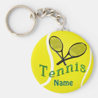 Regalos personalizados del equipo del tenis del llavero redondo tipo pin