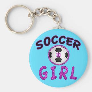 Regalos personalizados del fútbol para los chicas llavero redondo tipo pin