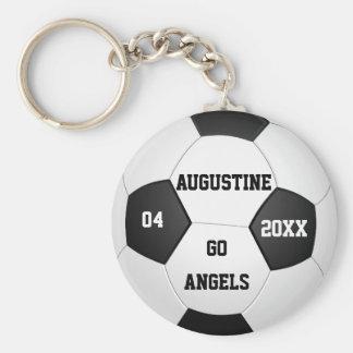Regalos personalizados del fútbol para los llavero redondo tipo pin