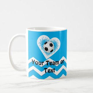 Regalos personalizados del fútbol para los taza