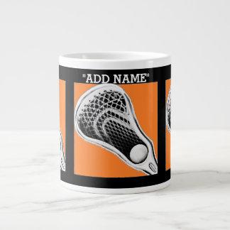 regalos personalizados del lacrosse taza grande