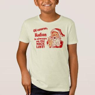 Regalos personalizados del navidad camisas