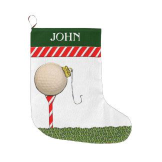regalos personalizados del navidad del golf calcetín de navidad grande