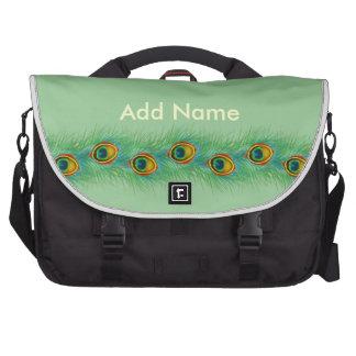 Regalos personalizados diseño del pavo real bolsas para ordenador