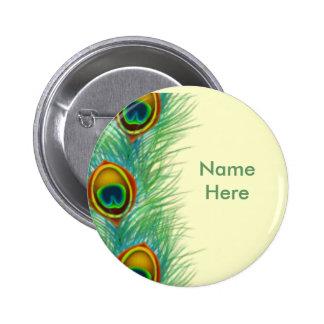 Regalos personalizados diseño del pavo real pin redondo de 2 pulgadas