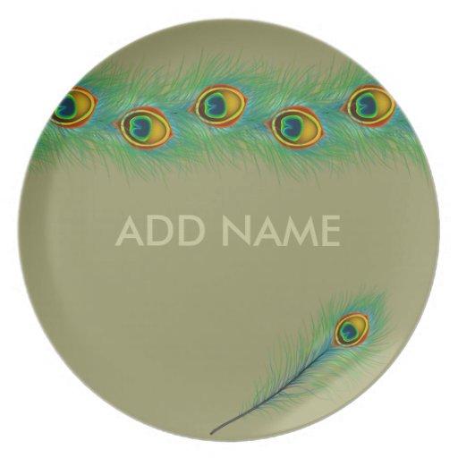 Regalos personalizados diseño del pavo real platos de comidas