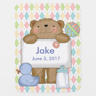 Regalos personalizados oso de las buenas noticias mantita para bebé