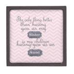 Regalos personalizados para la hermana o la tía caja de recuerdo de calidad