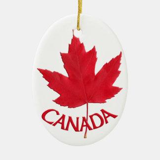 Regalos personalizados recuerdo de Canadá del Adorno Navideño Ovalado De Cerámica