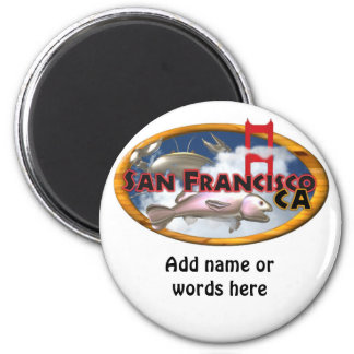 Regalos personalizados San Francisco de Valxart Imán Redondo 5 Cm
