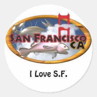 Regalos personalizados San Francisco de Valxart Pegatina Redonda
