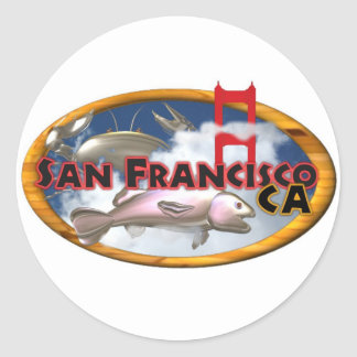 Regalos personalizados San Francisco de Valxart Pegatinas Redondas