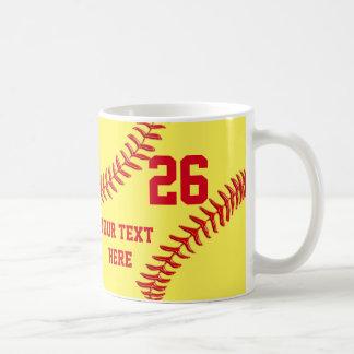 Regalos personalizados y baratos del softball para taza clásica