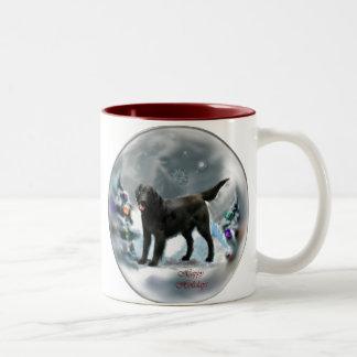 Regalos Plano-Revestidos del navidad del perro Taza De Dos Tonos