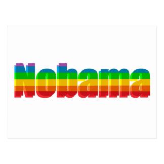 Regalos políticos del arco iris de Nobama Postal