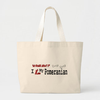 regalos pomeranian bolsa tela grande
