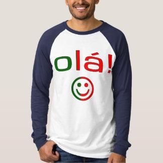 Regalos portugueses: Hola/Ola + Cara sonriente Remeras
