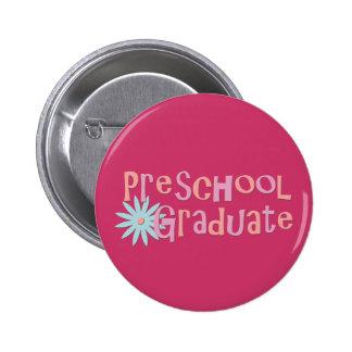 Regalos preescolares de la graduación del chica pin redondo 5 cm
