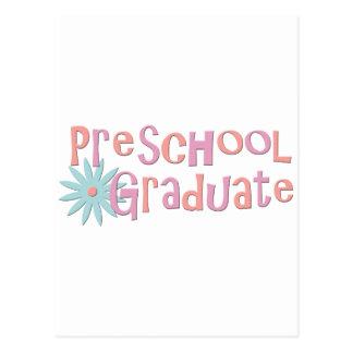 Regalos preescolares de la graduación del chica tarjetas postales