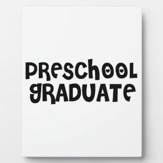 Regalos preescolares lindos de la graduación placas para mostrar