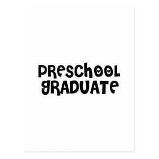 Regalos preescolares lindos de la graduación tarjetas postales