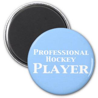 Regalos profesionales del jugador de hockey imán redondo 5 cm