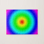Regalos psicodélicos del arte: Círculos enrrollado Puzzle
