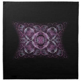 Regalos púrpuras abstractos del diseño del arte de servilleta