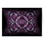 Regalos púrpuras abstractos del diseño del arte tarjeta de felicitación