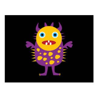Regalos púrpuras amarillos de la criatura del mons postal