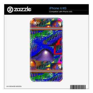 Regalos púrpuras azules coloridos de la noche del skins para iPhone 4S