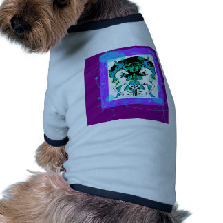 Regalos púrpuras con clase del unicornio por camisas de mascota