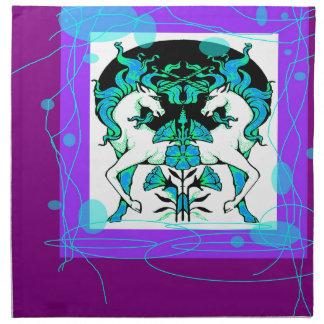Regalos púrpuras con clase del unicornio por servilleta de papel