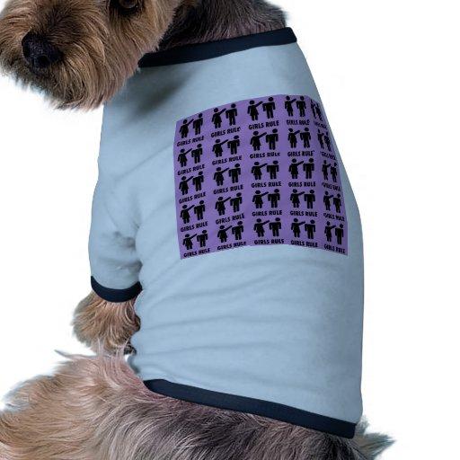 Regalos púrpuras de la feminista del poder del chi camiseta con mangas para perro