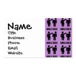 Regalos púrpuras de la feminista del poder del chi tarjeta de visita