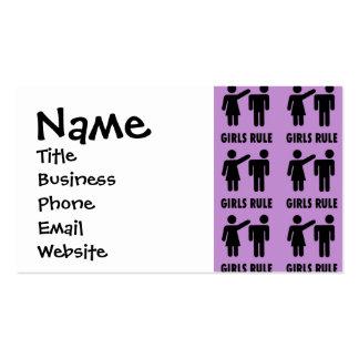 Regalos púrpuras de la feminista del poder del tarjetas de visita