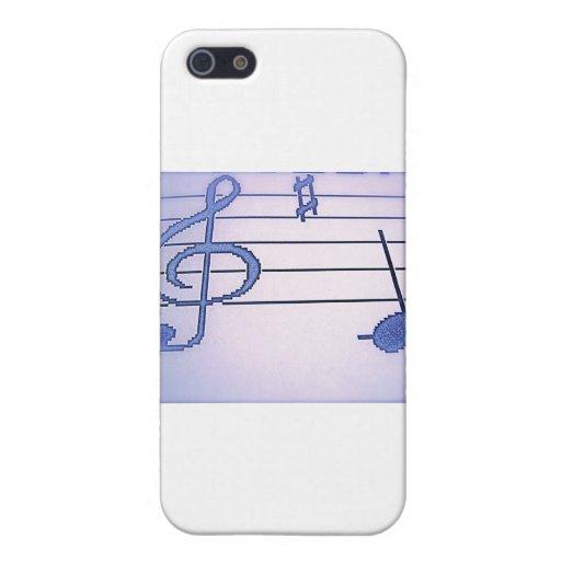 ¡Regalos púrpuras de la música de la diversión! iPhone 5 Carcasas