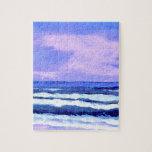 Regalos púrpuras de las olas oceánicas de la lila  rompecabezas con fotos