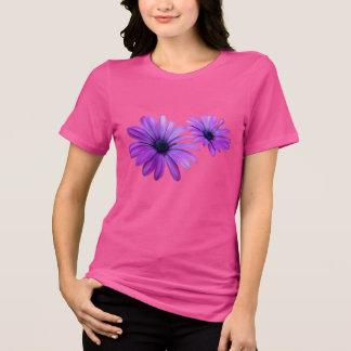 Regalos púrpuras del camisetas de la flor de la remera