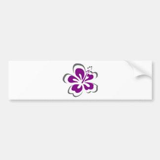 Regalos púrpuras del tema de Hawaii del hibisco Pegatina De Parachoque