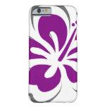 Regalos púrpuras del tema de Hawaii del hibisco Funda De iPhone 6 Slim