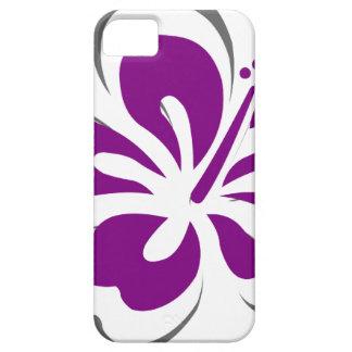 Regalos púrpuras del tema de Hawaii del hibisco iPhone 5 Cárcasas