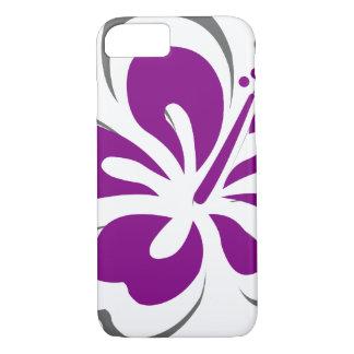 Regalos púrpuras del tema de Hawaii del hibisco Funda iPhone 7