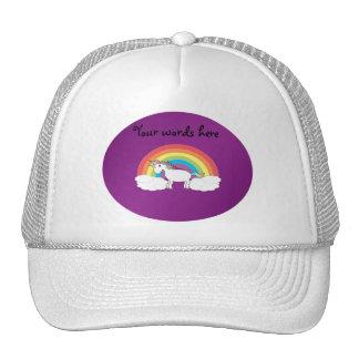 Regalos púrpuras del unicornio del arco iris gorro