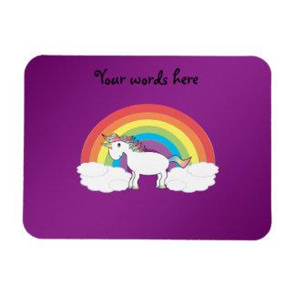 Regalos púrpuras del unicornio del arco iris iman